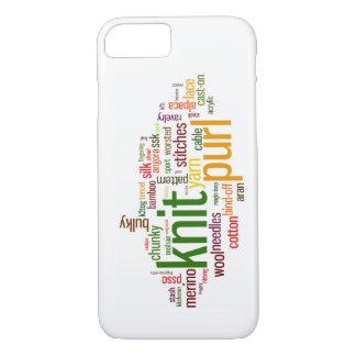 Léxico de confecção de malhas do Purl da malha Capa iPhone 7