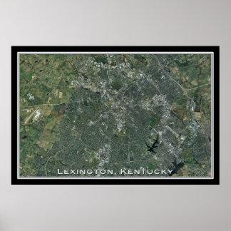 Lexington Kentucky da arte do satélite do espaço Poster