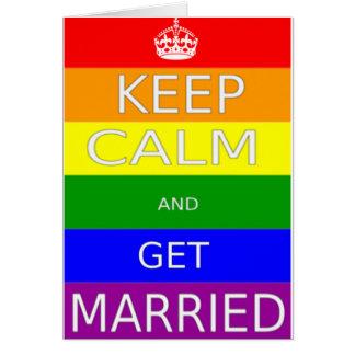 LGBT - O casamento gay mantem-se calmo e obtem-se Cartão Comemorativo