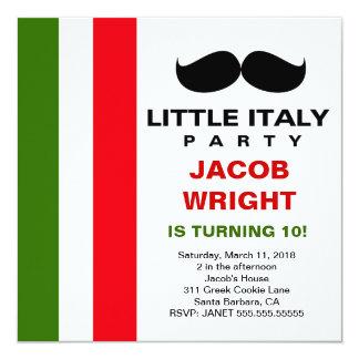 LGC pouco partido de Italia Convite Quadrado 13.35 X 13.35cm
