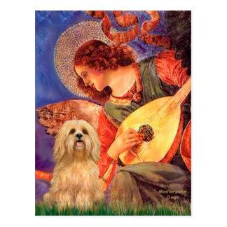 Lhasa Apso 9 - anjo do bandolim Cartão Postal