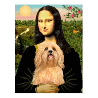 Lhasa Apso 9 - Mona Lisa Cartão Postal