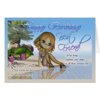 Li da praia da coleção da torta de Cutie do cartão