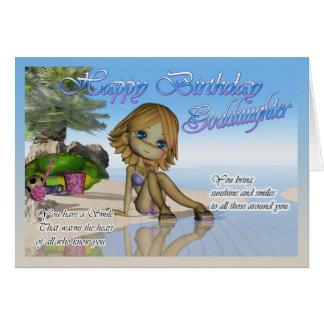 Li da praia da coleção da torta de Cutie do Cartão Comemorativo