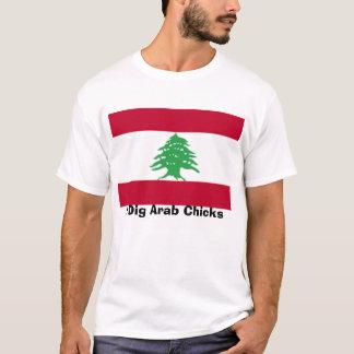 Libanês-Bandeira, eu escavo pintinhos árabes Camiseta