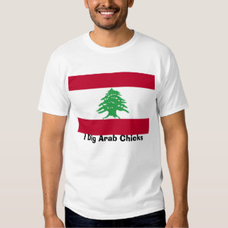 Libanês-Bandeira, eu escavo pintinhos árabes T-shirts