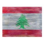 Líbano afligiu a bandeira libanesa cartões postais