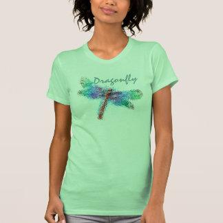 Libélula abstrata (azul) camiseta