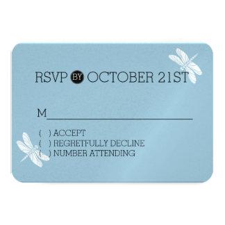 Libélula branca azul RSVP Convite 8.89 X 12.7cm