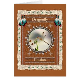 Libélula - cartão do costume da ilusão