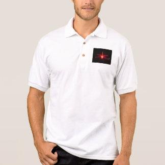Libélula de incandescência camiseta polo