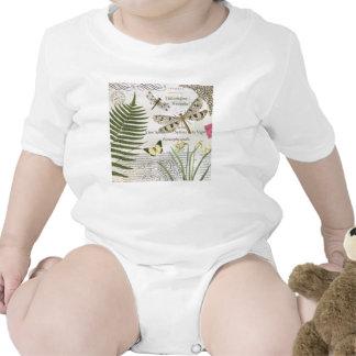 libélula moderna do francês do vintage macacãozinhos para bebê