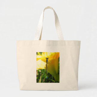 Libélula no amarelo bolsa de lona