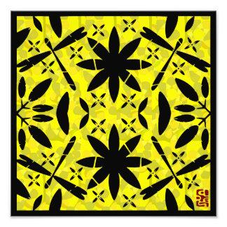 Libélulas amarelas impressão de foto