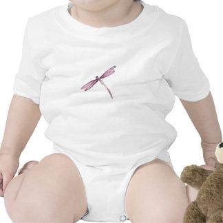 Libélulas brancas roxas do creeper da libélula macacãozinho para bebê