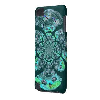 Libélulas, teste padrão de flores do lírio capa para iPod touch 5G