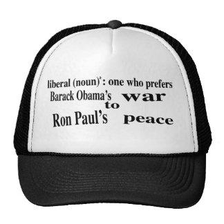 Liberal (substantivo): um quem prefere boné