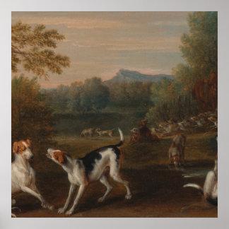 Liberando os cães pelo poster de John Wootton