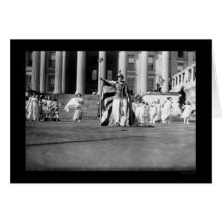 Liberdade 1913 da representação histórica do sufrá cartões