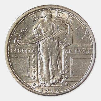 Liberdade 1917 adesivo redondo
