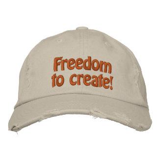 Liberdade a criar! boné bordado