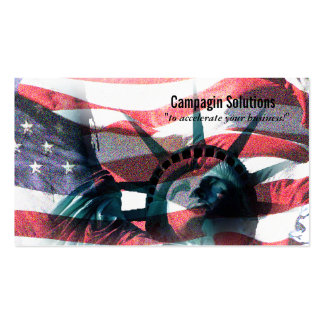 Liberdade americana cartão de visita