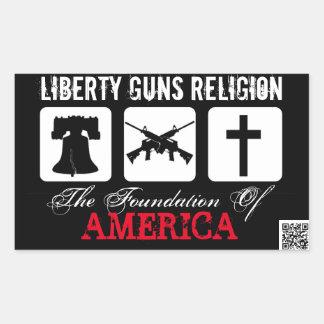 Liberdade, armas, etiqueta da religião