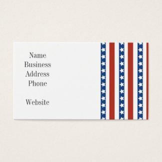 Liberdade azul branca vermelha patriótica da cartão de visitas