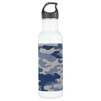 Liberdade Bottleworks dos azuis de marinho de Camo Garrafa