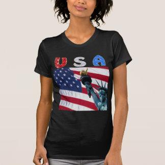 Liberdade da bandeira dos EUA T-shirts