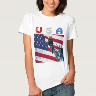 Liberdade da bandeira dos EUA Camisetas
