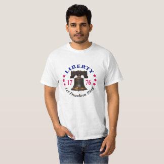 Liberdade - deixe o t-shirt do valor do anel da camiseta