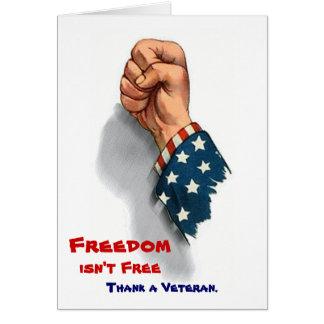 Liberdade e cartão patriótico dos veteranos