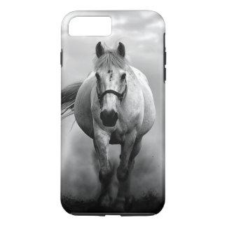 Liberdade Running branca preta do cavalo Capa iPhone 7 Plus