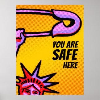 Liberdade SEGURA Pop1: Você é aqui o POSTER seguro