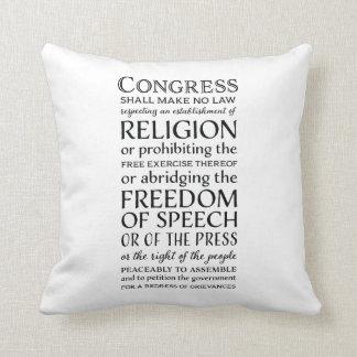 Liberdades da Primeira Emenda - defenda seus Almofada