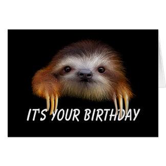 Libere seu cartão de aniversário interno da