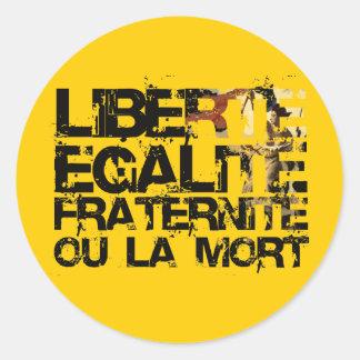 LIberte Egalite Fraternite!  Revolução Francesa! Adesivo