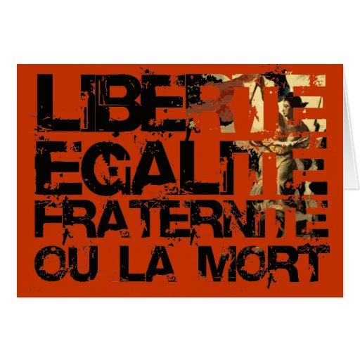 Liberte Egalite Fraternite: Revolução Francesa Cartoes