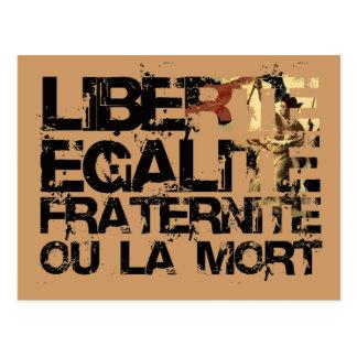 LIberte Egalite Fraternite!  Revolução Francesa! Cartão Postal