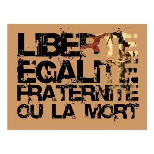 LIberte Egalite Fraternite!  Revolução Francesa! Cartao Postal