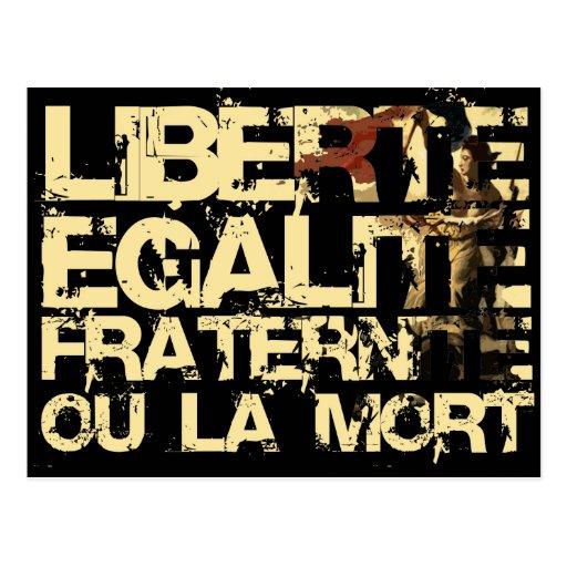 Liberte Egalite Fraternite: Revolução Francesa Cartoes Postais