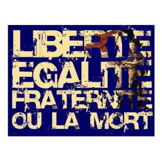 Liberte Egalite Fraternite: Revolução Francesa Cartão Postal
