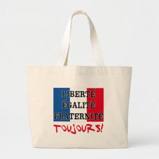 Liberte Egalite Fraternite Toujours Sacola Tote Jumbo