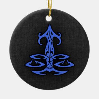 Libra dos azuis marinhos ornamento