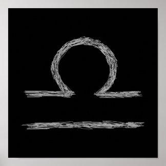 Libra. Sinal astrológico do zodíaco Poster