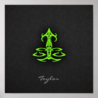 Libra verde Chartreuse, de néon Impressão