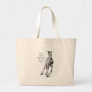 Licença Hoofprints dos cavalos em seu coração: Art Bolsa