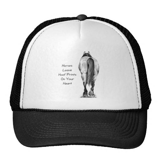 Licença Hoofprints dos cavalos em seu coração: Art Bone