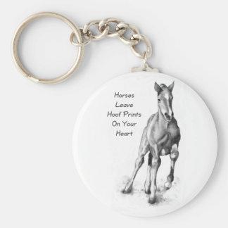 Licença Hoofprints dos cavalos em seu coração: Art Chaveiros